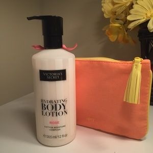 Victoria's Secret Rose Lotion + Ipsy Pouch